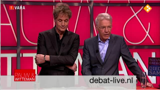 Announcements on Pauw en Witteman website, as well as live on screen.